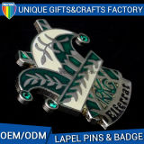 Выдвиженческий Pin значка с муфтой бабочки плакировкой золота диаманта имитационной