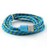 cabo de dados da sincronização do carregador do USB da corda do cânhamo de 3m/10FT micro para o telefone de pilha