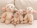 연약한 동물성 견면 벨벳 장난감 귀여운 백색 채워진 양 장난감