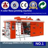 آلة 4 اللون عالية السرعة الطباعة فليكسو لغير المنسوجة مع Anilox السيراميك