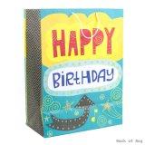 Bolso del regalo de cumpleaños, bolso de papel del regalo, bolsa de papel de Kraft, bolsa de papel que hace compras