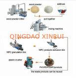 PVC WPC 알갱이로 만드는 선을%s 가진 목제 플라스틱 밀어남 기계