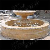 Marmeren Fontein mf-1186 van het Graniet van het Zand van de Fontein van het Graniet van de Steen Gouden