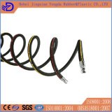 Boyau en caoutchouc hydraulique tressé à haute pression R1 R2 1sn 2sn de fil d'acier