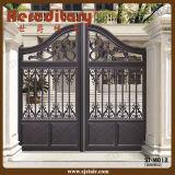 Porta de jardim de aço moderna do metal para a casa de campo
