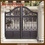 Puerta de jardín de acero moderna del metal para el chalet