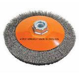 Cepillo de alambre de acero biselado prensado