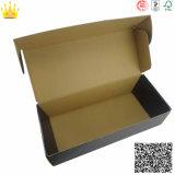 Caixa negra colorida do papel ondulado da impressão da laminação feita sob encomenda de Matt