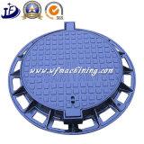 En124 D400 무쇠 맨홀 뚜껑 또는 맨홀 뚜껑