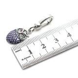 Pendente di cristallo viola di fascino del gufo dello smalto per il braccialetto della collana di DIY