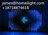 Cortina con efecto iluminado de la visualización, cortina Screem del LED del LED con efecto de la visión