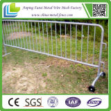 Camino Safety Galvanized Steel Mobile Barrier con Wheels
