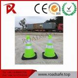 Cone reflexivo plástico baixo de borracha flexível do tráfego do PVC da segurança de tráfego de Roadsafe