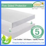 Cubierta libre del protector del colchón del vinilo - garantía de por vida - por completo