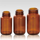 Frascos de cristal ambarinos de la venta caliente