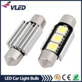 indicatori luminosi della lampadina LED del festone di 12V 36mm 3*5050SMD Canbus LED per le automobili