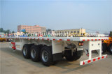 3-Axle du faisceau 40FT de conteneur de lit plat remorque droite semi/remorque de camion