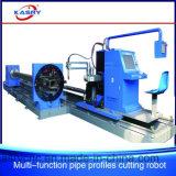 Quadratisches Gefäß CNC-Plasma-fertig werdener Maschine/Flamme CNC-Scherblock