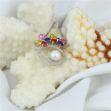 Pendente puro alla moda della perla naturale di Zircon variopinto
