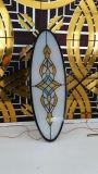 Figura fábrica do edifício de igreja do vidro de indicador do vidro manchado