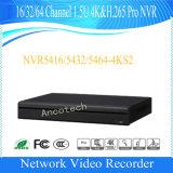 CCTV NVR (NVR5464-4KS2) della Manica 1.5u 4k&H. 265 di Dahua 64 PRO