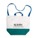 Le tissu de coton met en sac les sacs promotionnels d'Adv réutilisables de sacs avec 1 impression de logo de couleur