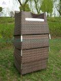 Sistema seccional de mimbre de los muebles del jardín del sofá de los muebles de Río del patio del patio del sofá al aire libre determinado casero de la rota