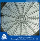 Azotea de la estructura del braguero del tubo de acero con el vidrio