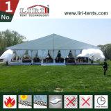 Tenda di alluminio bianca elegante esterna della tenda foranea di cerimonia nuziale della chiesa del blocco per grafici del PVC del Ferrari delle 500 genti