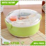 Nahrungsmittelbehälter 2 Schicht-Hamburger-Form-Mittagessen-Kasten Bento mit dem Gabel-Löffel-Mittagessen-Kasten-Nahrungsmittelbehälter BPA-Frei