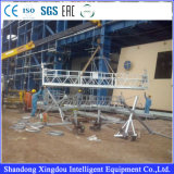 Plate-forme de fonctionnement suspendue par construction en aluminium s'arrêtante de gondole de Zlp