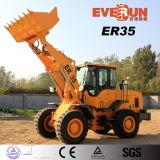 Everun caricatore della rotella della costruzione da 3 tonnellate con il grande pneumatico