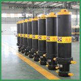 Cilindro telescópico hidráulico del aceite para la descarga Truck&Trailer