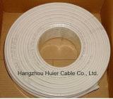Cable coaxial impermeable del material RG6 de la alta calidad