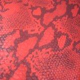A cor dobro imprimiu o couro do plutônio, couro de sapata gravado da textura