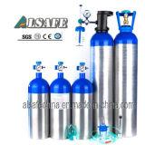 Bombola per gas medica di alluminio ad alta pressione senza giunte