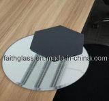 Dekoratives silbernes Spiegel-Glas für Kerzenhalter