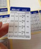 Etichette di avvertimento di riflessione per il ricordo di sicurezza