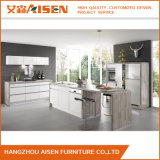 Lineare Art-weiße Lack-Küche-Schrank-Möbel einfach zu säubern