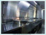 Remorque Qingdao de stand de concession de boulette de poissons de véhicule de cuisine de châtaigne de partie supérieure du comptoir en Chine