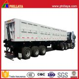 De voor/AchterAanhangwagen van de Stortplaats van de Vrachtwagen van de Kipper van Cilinders Semi Zij