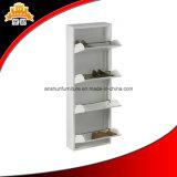 Nouveau Cabinet de stockage de chaussure en métal de porte de niveau de la conception 4