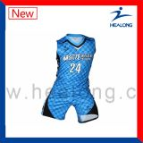 Baloncesto modificado para requisitos particulares marca de fábrica superior Jersey de la sublimación con alta calidad