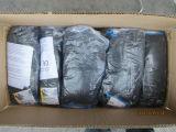 El látex negro cubierto, se arruga los guantes de trabajo Finished (DKL338)