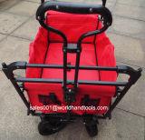 おおいが付いているスポーツの折りたたみ折りたたみの屋外の実用的なワゴン
