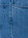 Verzwakte het Blauwe Katoen van de Was van de Steen van de Vrouwen van de manier de Boord Geflakkerde Jeans van het Denim
