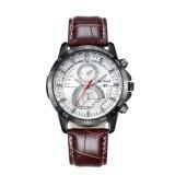 方法腕時計多機能の42mmの金属の箱の革バンド