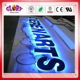 Sinal de letra LED LED retroiluminado para publicidade