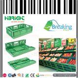 Embalaje plegable plástico plegable para el supermercado