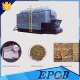 Caldeira horizontal do Husk do desperdício da biomassa da grelha da corrente do cilindro